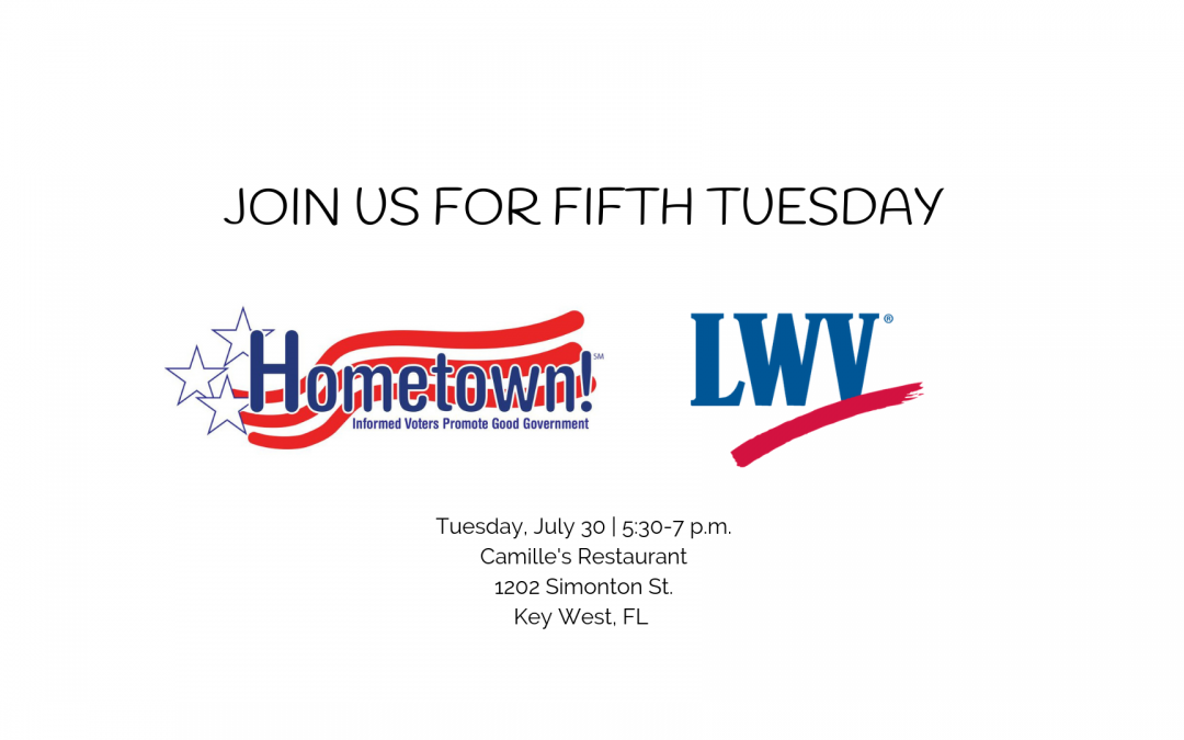 Chapter welcomes Hometown! to Fifth Tuesday, July 30